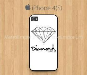 iPhone 4 Case, iPhone 4S Case Black, Diamond Supply Co Black