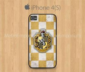iPhone 4 Case, iPhone 4S Case White, Hufflepuff School Crest
